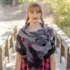 DIY! Unique KNITTING PATTERNS for making your own beautiful custom scarf --handmade by YOU!  Japanese Weave Wrap PDF knitting pattern available from Pam Powers Knits.