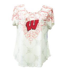 Wisconsin Badgers Women's Victorian Print Dolman Sleeve