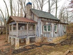 More Photos of The Farm Cabins and Cottages - BlueRidgeCountry. Old Cabins, Cabins And Cottages, Cabins In The Woods, Rustic Cabins, Tiny House Cabin, Log Cabin Homes, Little Cabin, Little Houses, Abandoned Houses