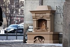 Artist Create 'Cardboard' Street Art Installations   Holtermann Design LLC