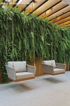 Home Room Design, Home Interior Design, House Design, Interior Garden, Cafe Design, Backyard Patio Designs, Backyard Landscaping, Modern Backyard Design, Contemporary Garden Design