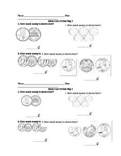 Here's a free response exit slip to see if students have mastered finding the total value of a collection of coins.