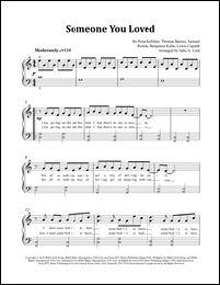 Someone You Loved Simplified Sheet Music Store Sheet Music