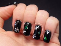 Ice flowers nail art