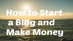 How to Start a Blog and Make Money https://www.youtube.com/watch?v=xf3vmnjYkJg&feature=youtu.be via YouTube