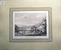 1776 Rosenberg Aquatint MOULIN on the BIRS Jura SWITZERLAND wash SUISSE