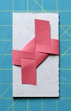 interlocking paper strip closure