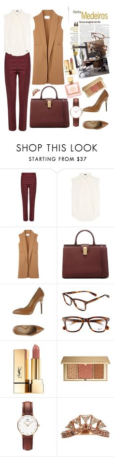 """Office Style"" by darya-blare on Polyvore featuring мода, Wood Wood, Jil Sander Navy, Alexander Wang, Vicini, Martha Medeiros, Ray-Ban, Yves Saint Laurent, Estée Lauder и Daniel Wellington"
