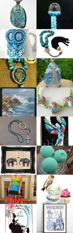 For the Love of Turquoise by William Minchew on Etsy--Pinned with TreasuryPin.com Thanks to William Minchew for including Pure GRACE Soaps Set of 3 Melon Bath Bombs in this treasury!