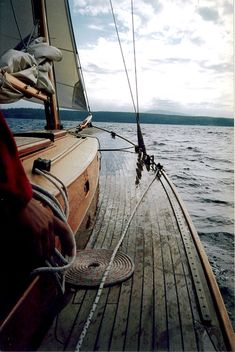 this was probably one of the nicest sailing experiences ever (nicest wooden boats). The boat was a beautiful wooden sail boat (ketch) made in Port Townsend WA. Sail Away, Set Sail, Wooden Boats, Wooden Sailboat, Wooden Decks, Tall Ships, Belle Photo, The Great Outdoors, Sailing Ships