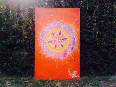 Mandala on canvas