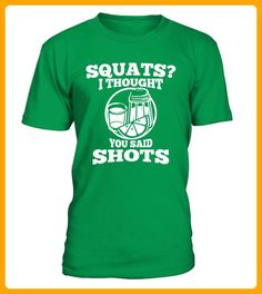 Squats Thought You Said Shots Funny Drinking Workout - Oktoberfest shirts (*Partner-Link)