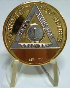 Recovery medallion for one year sober from drugs and alcohol... cant wait to get mine!!