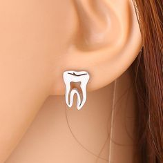 Tooth Shape Studs/Earrings For Dental professionals