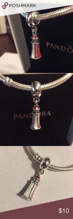 New Light house Beach Charm 925 Sterling Silver New 925 Sterling silver Spacer charm bead made specifically for Pandora bracelets. Charm itself is not Pandora, it just fits Pandora and still made in high quality 925 Sterling Silver material. It would make a great addition to your Pandora bracelet. Be sure to check out other charms available for sale to bundle and save big! Pandora Jewelry Bracelets