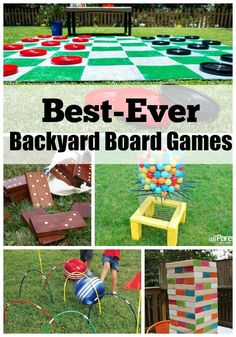 Best-Ever Backyard Board games!  Have fun with the whole family outdoors this summer.  Fun Family activities.