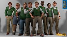 Nerds Clique (Bully) XPS Models by the-architect-x on DeviantArt Bully Game, Gary Smith, Girl Dorms, Rockstar Games, Boy Models, Game Character, Really Funny, Dc Comics, Nerd