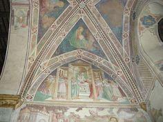 Lorenzo di Bicci - Storie di Maria  - Affresco - inizio '400 - Cappella Nucci Salutati, Chiesa di San Francesco, Pescia (Pistoia, Italia)