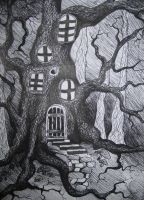 fantasy tree houses drawings - Google Search