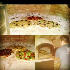 Pizzas al horno de barro.