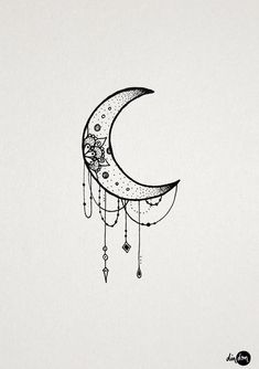 Symbols of the moon are often drawn on or stitched onto Ember's outfits. #TattooIdeasSymbols