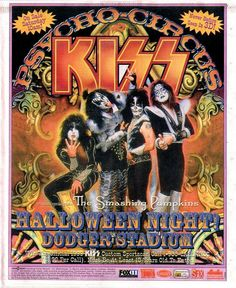kiss tour posters | Promo poster for the 1998 Dodger Stadium gig.