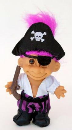 """My Lucky Pirate Troll Doll by Russ Berrie. $24.99. My Lucky Pirate Troll Doll. By Russ Berrie. Age Recommendation: 3 years and over. Approx 6"""" Tall. My Lucky Pirate Troll Doll is approximately 6"""" tall by Russ Berrie. Age Recommendation: 3 years and over."""