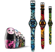 Swiss made, the Swatch watch KALINKA - MALINKA features a quartz movement, a silicone strap and a plastic watch head. Discover more Originals New Gent on the Swatch United Kingdom website. Emporio Armani Mens Watches, Vintage Swatch Watch, Hippie Man, Mothers Day Special, Matryoshka Doll, Cool Stuff, Watches For Men, Bracelet Watch, Gary Baseman