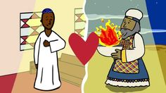 """This animated short of Parshat Acharei Mot (אַחֲרֵי מוֹת """"after the death"""" Leviticus 14:1–15:33) is  interpreted by Jana Jett Loeb. Take a few minutes to learn about how in this particular Torah story Nadav and Avihu, two of Aaron's sons, were killed for incorrectly approaching God."""
