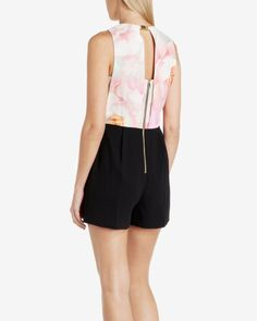 Rose on canvas playsuit - Nude Pink | Playsuits & Jumpsuits | Ted Baker UK - GOT IT