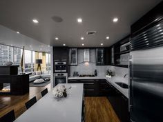 Another photo of modern kitchen and the island in the middle