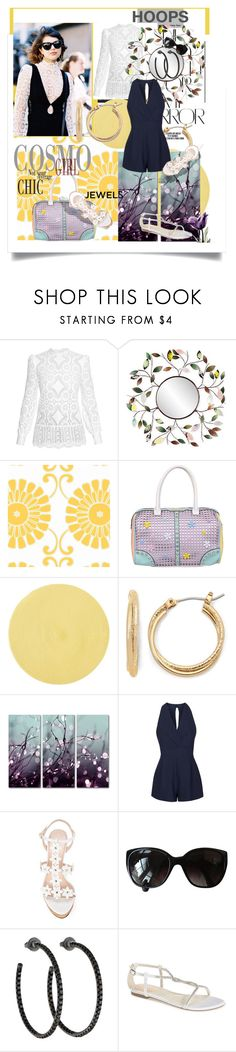 """""""Hoops and Jewels"""" by beleev ❤ liked on Polyvore featuring Hillier Bartley, Rika, Southern Enterprises, Thibaut, Nicole Lee, Pier 1 Imports, Trademark Fine Art, Topshop, Oscar de la Renta and Chanel"""