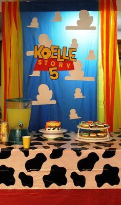 Toy Story Jessie Cowgirl Birthday Decor Backdrop, Toy Story Birthday Sign