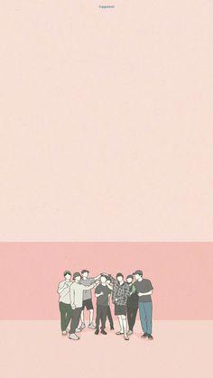 K Wallpaper, Cute Patterns Wallpaper, Exo Cartoon, Exo Stickers, Exo Anime, Baekhyun, Exo Fan Art, Exo Lockscreen, Kpop Exo