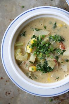 ... creamy potato chowder with bacon corn and kale dairy and gluten free