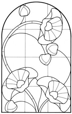 Art Nouveau Stained Glass Pattern Book Source by clairety Stained Glass Patterns Free, Stained Glass Quilt, Stained Glass Flowers, Faux Stained Glass, Stained Glass Designs, Stained Glass Panels, Mosaic Patterns, Art Patterns, Fused Glass