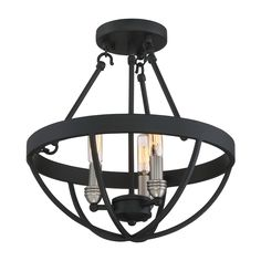 Shop Quoizel  BSN1714EK Basin 3-Light Semi-Flush Ceiling Light at Lowe's Canada. Find our selection of semi flush ceiling lights at the lowest price guaranteed with price match   10% off.