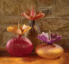 by Bob Kliss...www.artfulhome.com I love these, they have a real whimsy feel to them.