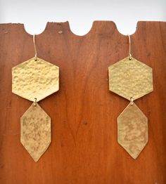 Honeycomb Earrings - Brass by Jennie Claire on Scoutmob Shoppe
