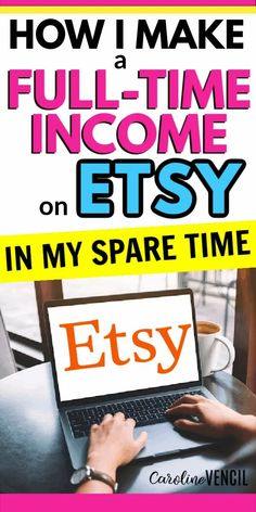 Do you like crafting and want to start a side hustle? You can make a full time income with an Etsy store. #moneymakingtips #makemoneyfromhome #makemoneyonline #makemoneyonlinefromhome #etsyshopideas #etsyshop #etsybusiness #howtostartanetsyshop