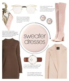 """sweater dress"" by yiah ❤ liked on Polyvore featuring Gianvito Rossi, Theory, Gucci, Daniel Wellington, Hermès and Miu Miu"