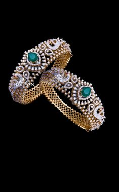 Check out this beautiful pure silver stone studded bangles by the brand Bandhan Emporio. Indian Jewelry Sets, Silver Jewellery Indian, Egyptian Jewelry, Egyptian Art, Gold Bangles Design, Gold Jewellery Design, Raw Gemstone Jewelry, Crystal Jewelry, Fancy Jewellery