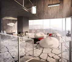 'Ledge House to współczesna odpowiedź na dom mieszkalny w górach. Fot. Zalewski Architecture Group'