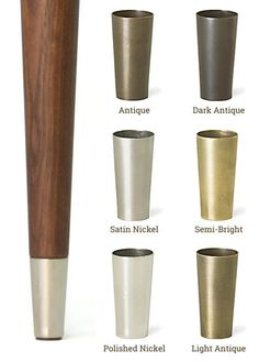 Buy these stylish tips for McCobb Mid-Century Modern Table Legs, in 6 finishes. The metal tips are designed to accent the Mid-Century Modern McCobb look. Also referred to as ferrules, the tips are a hefty weight and made from solid brass. Modern Table Legs, Midcentury Modern Dining Table, Mid Century Modern Table, Dining Table Legs, Modern Coffee Tables, Mid Century Modern Furniture, Modern Armchair, Mid Century Dining Table, Mid Century Modern Design