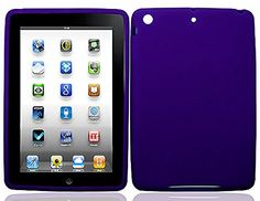 """Dark Royal Purple {Simple Matte Plain} Soft and Smooth Silicone Cute 3D Fitted Bumper Back Cover Gel Case for iPad Mini 1, 2 and 3 by Apple """"Durable and Slim Flexible Fashion Cover with Amazing and Creative Cartoon Design - All Ports Accessible"""" mySimple Products http://www.amazon.com/dp/B00WKXMYQ8/ref=cm_sw_r_pi_dp_HalCwb1947AKW"""