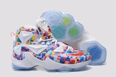 "newest 12bef 9a96c Buy Outlet Nike LeBron 13 ""Prism"" Multi-Color University Red-White  Basketball Shoes from Reliable Outlet Nike LeBron 13 ""Prism""  Multi-Color University ..."