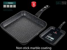 BerlingerHaus Marble Coating Changing Flameguard Grill Pan