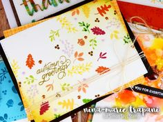 Studio Monday with Nina-Marie: 4 Ways to Use the October Nuts About You Card Kit