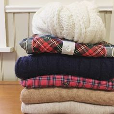 holiday sweaters and plaids from Mia Goes Shopping on Instagram