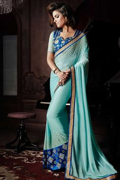 Blue Georgette Saree with Silk Blouse Prix:-87,04 € Designer Saree Collection now in store presented by Andaaz Fashion like Blue Georgette Saree with Silk Blouse. The dress is embellished with Embroidered, Stone, Zari, Low Cut Neck Blouse, Half Sleeve, and with Designer Pallu. This dress is prefect for Party, Wedding, Festival, Ceremonial http://www.andaazfashion.fr/blue-georgette-saree-with-silk-blouse-dmv7707.html